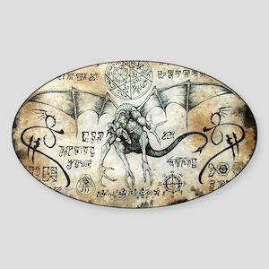 Dragon Runes Sticker (Oval)
