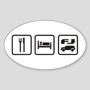 Eat sleep FJ! Oval Sticker