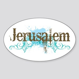 Jerusalem Oval Sticker