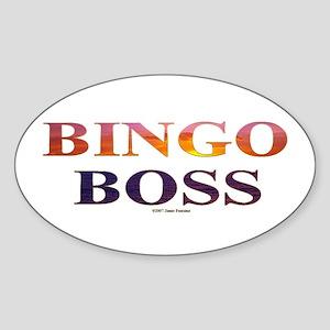 Bingo Boss Engrave MT Oval Sticker