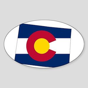 Colorado State outline Map and Flag Sticker