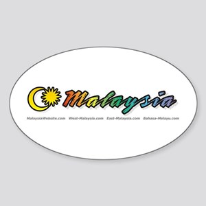 MalaysiaWebsite.com Oval Sticker