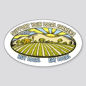 Support Your Local Farmers Sticker (Oval)