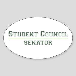 Student Council - Senator Oval Sticker