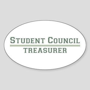 Student Council - Treasurer Oval Sticker