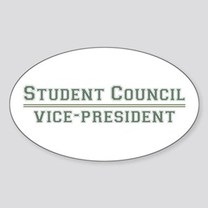 Student Council - Vice-President Oval Sticker