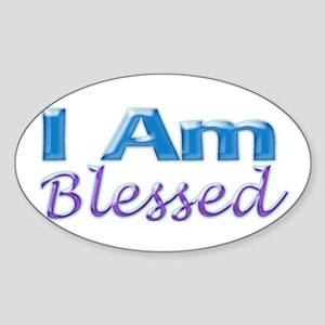 I Am Blessed Oval Sticker