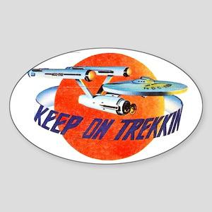 AMT Keep On Trekkin Sticker (Oval)