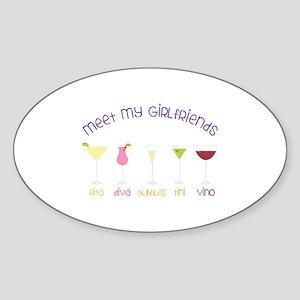 meet my GiRLfRiends Sticker