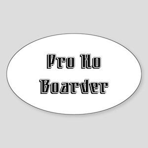 Pro Ho Oval Sticker