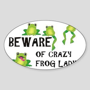 beware_teexfer Sticker (Oval)