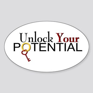 Unlock Your Potential Oval Sticker