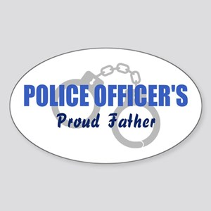 Police Proud Father Oval Sticker