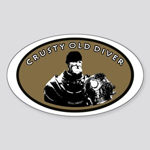 CRUSTY OLD DIVER Sticker (Oval)