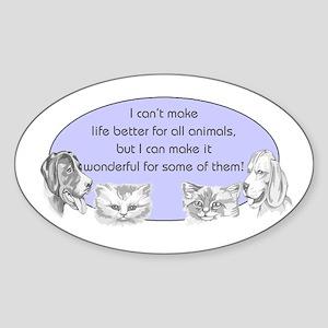 Better Pet Life Oval Sticker