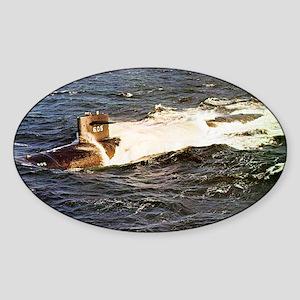 jack framed panel print Sticker (Oval)