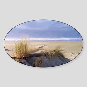 Newport Oregon Beach Sticker (Oval)
