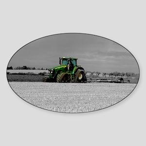 Working the Fields Sticker (Oval)