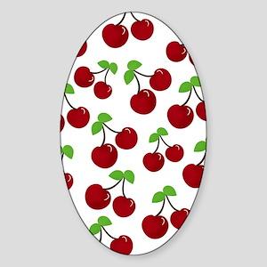 Cherries Sticker (Oval)