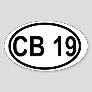 CB Channel 19 Sticker (Oval)