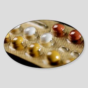 Contraceptive pills Sticker (Oval)
