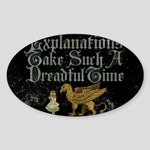 alice-explanations_9x12 Sticker (Oval)