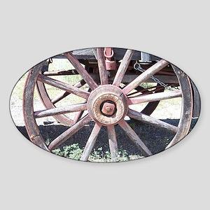 Wagon Wheel Sticker (Oval)