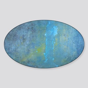 Blue Abstract Expressions Sticker (Oval)