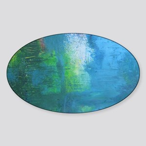 Abstract Landscape Expression Sticker (Oval)
