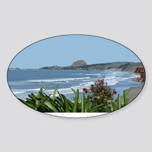 Pohutukawa Bay Sticker (Oval)