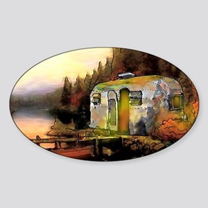 Airstream camping Sticker (Oval)