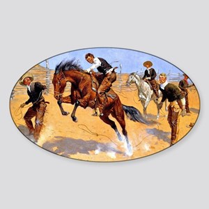 Cowboy art: Turn Him Loose, Bill Sticker (Oval)