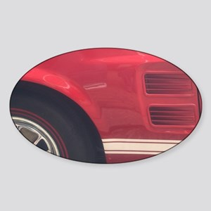 1968 Mustang GT/A Side Picture Sticker (Oval)