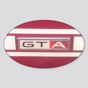 1968 Mustang GT/A Badge Sticker (Oval)