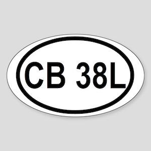 CB 38L  Sticker (Oval)