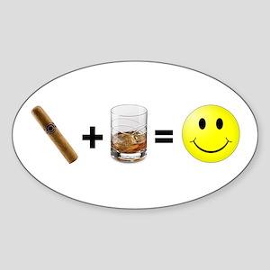 Cigar & Bourbon Oval Sticker