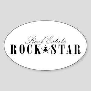 RE Rock Star Oval Sticker