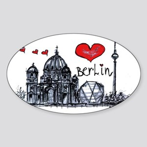 I love Berlin Sticker (Oval)