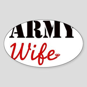Cute Army Wife Sticker (Oval)