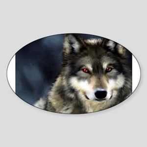Wolf with Red Eyes Sticker