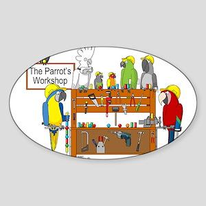 The Parrot's Workshop Logo Sticker (Oval)