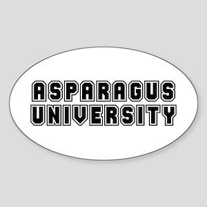 University Oval Sticker