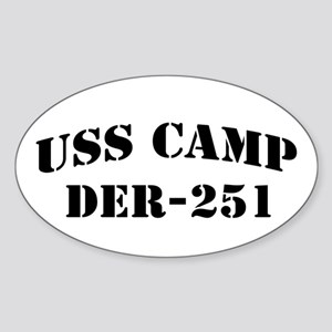 USS CAMP Oval Sticker