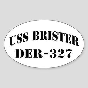 USS BRISTER Sticker (Oval)