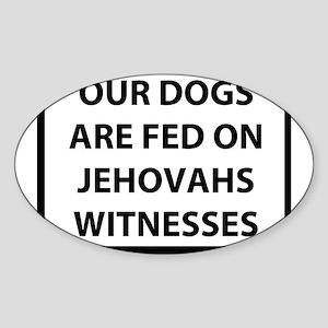 jehovah Sticker (Oval)