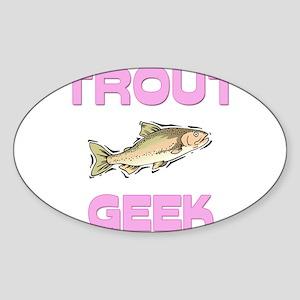 Trout Geek Oval Sticker