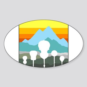 Mountain Music Sticker (Oval)