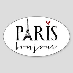 Paris bonjour Sticker