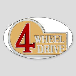 4WD logo Sticker (Oval)
