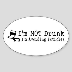 Drunk Potholes Sticker (Oval)